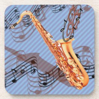 Prácticos de costa abstractos del saxofón posavasos de bebidas