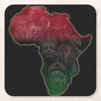 Prácticos de costa africanos de los derechos posavasos personalizable cuadrado