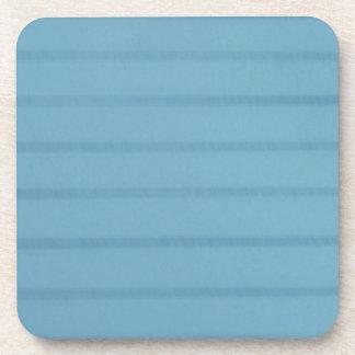 Prácticos de costa alineados azul de la página posavasos de bebidas