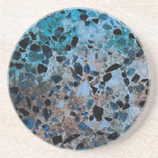 Prácticos de costa azules del granito posavasos diseño