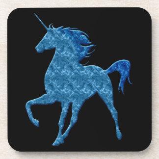 Prácticos de costa azules del unicornio del fuego posavasos