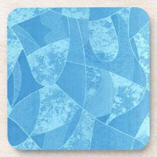Prácticos de costa azules del vidrio de la mancha posavasos de bebidas