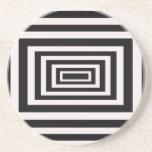Prácticos de costa blancos y negros del diseño posavasos diseño