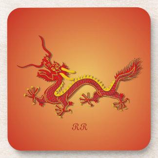 Prácticos de costa chinos de las bebidas del dragó posavaso
