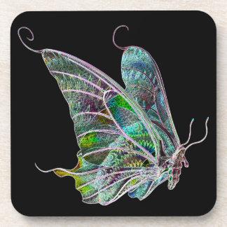 Prácticos de costa coloridos de la mariposa posavasos de bebida