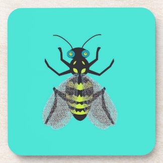 Prácticos de costa con diseño colorido de la abeja posavasos de bebida