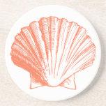 Prácticos de costa coralinos del Seashell Posavasos Para Bebidas