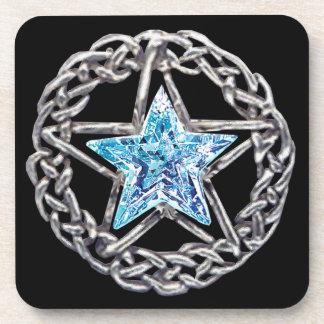 Prácticos de costa cristalinos de la estrella del posavaso