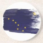 Prácticos de costa de la bandera de Alaska Posavasos Personalizados