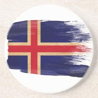Prácticos de costa de la bandera de Islandia Posavasos Manualidades