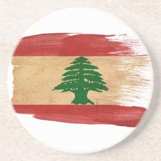 Prácticos de costa de la bandera de Líbano Posavasos Diseño