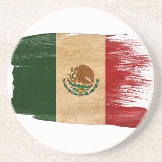 Prácticos de costa de la bandera de México Posavasos Para Bebidas