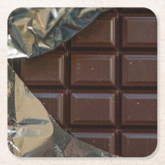 Prácticos de costa de la barra de chocolate posavasos personalizable cuadrado