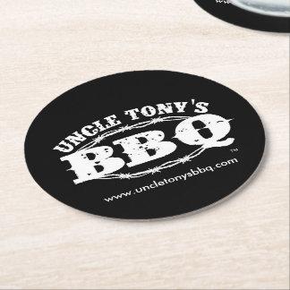 Prácticos de costa de la bebida de BBQ de tío Tony Posavasos Personalizable Redondo