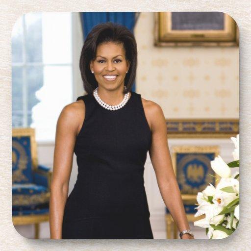 Prácticos de costa de la bebida de Michelle Obama Posavasos De Bebida