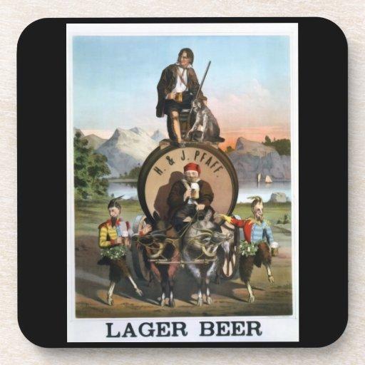 Prácticos de costa de la cerveza de cerveza dorada posavasos