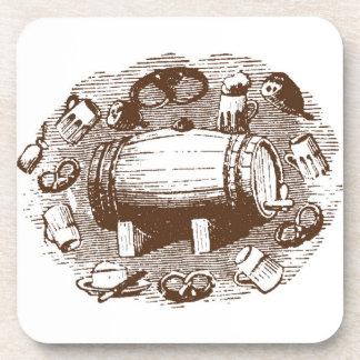 Prácticos de costa de la cerveza y del pretzel posavasos de bebida