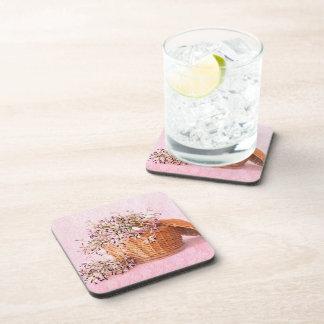 Prácticos de costa de la cesta de la flor del vint posavasos de bebida