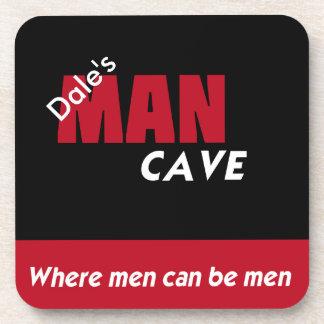 Prácticos de costa de la cueva del hombre posavasos de bebidas