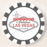Prácticos de costa de la ficha de póker de Las Veg Posavasos Diseño