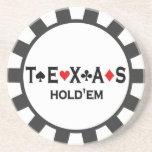 Prácticos de costa de la ficha de póker de Tejas H Posavasos De Arenisca