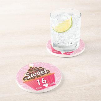 Prácticos de costa de la magdalena del dulce 16 posavaso para bebida