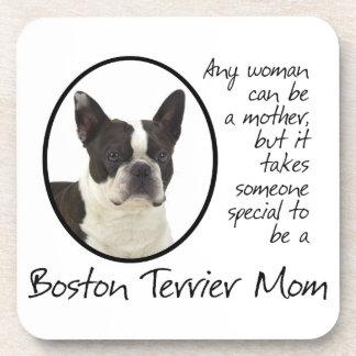 Prácticos de costa de la mamá de Boston Terrier Posavasos De Bebidas