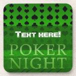 Prácticos de costa de la noche del póker posavasos de bebidas