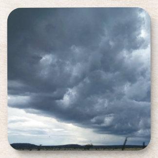 Prácticos de costa de la nube de tormenta posavasos de bebida