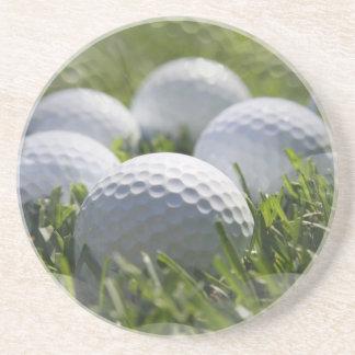 Prácticos de costa de la pelota de golf posavasos personalizados