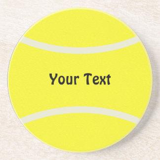 Prácticos de costa de la pelota de tenis posavasos personalizados