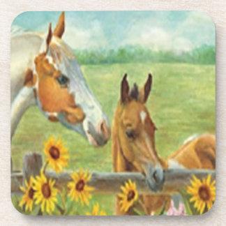 Prácticos de costa de la pintura del caballo posavasos