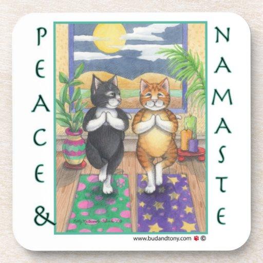 Prácticos de costa de la yoga del gato (brote y To Posavasos De Bebida