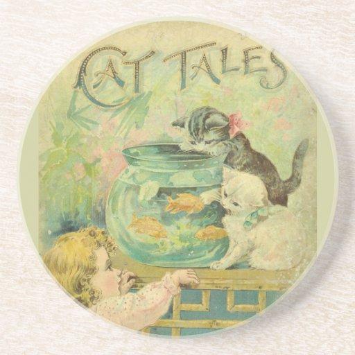 Prácticos de costa de los cuentos del gato posavasos cerveza