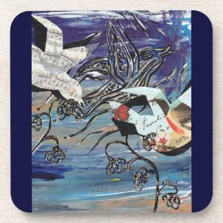 Prácticos de costa de los pájaros de la canción posavasos de bebidas