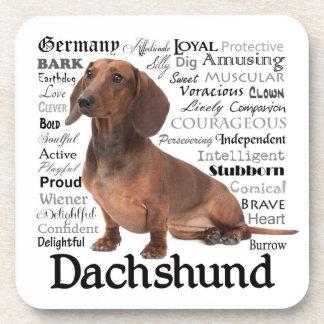 Prácticos de costa de los rasgos del Dachshund Posavasos De Bebida