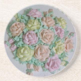 Prácticos de costa de los rosas de la formación de posavasos personalizados
