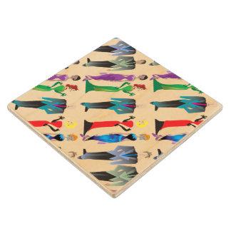 Prácticos de costa de madera del arce de las posavasos de arce