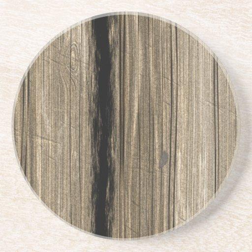 Prácticos de costa de madera rústicos de la piedra posavasos diseño
