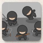 ¡Prácticos de costa de Ninja - diversión retra del Posavasos De Bebida