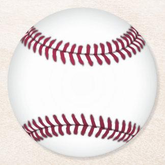 Prácticos de costa de papel del béisbol posavasos de cartón redondo