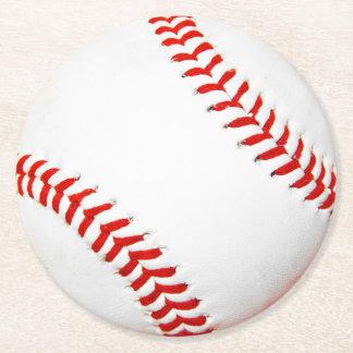 Prácticos de costa de papel del béisbol posavasos desechable redondo