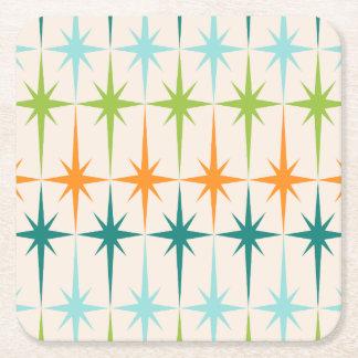 Prácticos de costa de papel duros geométricos de posavasos personalizable cuadrado