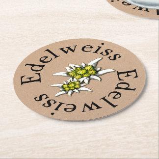 Prácticos de costa de papel florales de Edelweiss Posavasos De Cartón Redondo