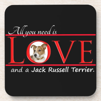 Prácticos de costa del amor de Jack Russell Posavasos De Bebidas