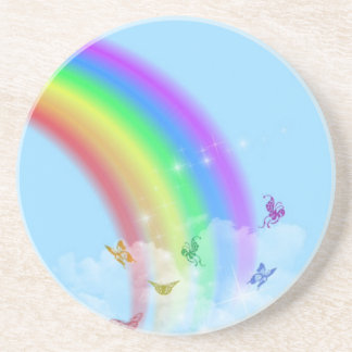 Prácticos de costa del arco iris posavasos personalizados
