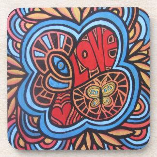Prácticos de costa del arte del amor del Hippie Posavasos De Bebidas
