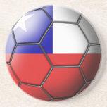 Prácticos de costa del balón de fútbol de Chile Posavasos Para Bebidas