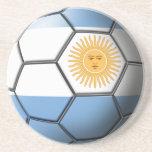 Prácticos de costa del balón de fútbol de la Argen Posavasos Manualidades