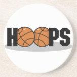Prácticos de costa del baloncesto de los aros posavasos diseño